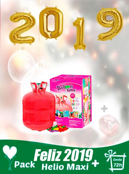 pack globos 2019 feliz año + helio