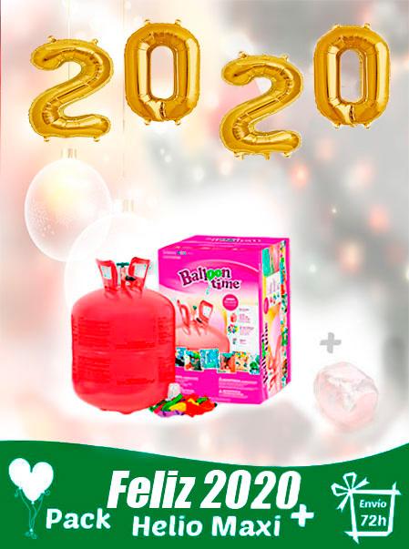 pack globos 2020 feliz año + helio