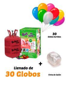 Helio Globos Inflado 30 globos Desechable