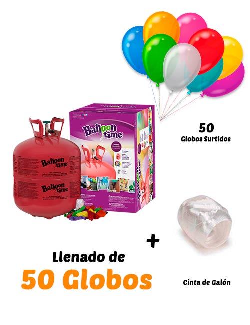 Helio Globos Inflado 50 globos Desechable