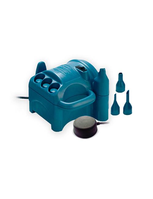 Inflador electrico para globos Profesional Mini con pedal y varios adaptadores