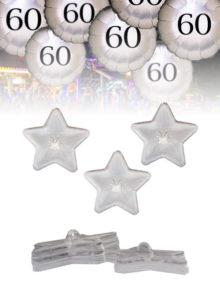 Pesos para Globos estrellas transparentes