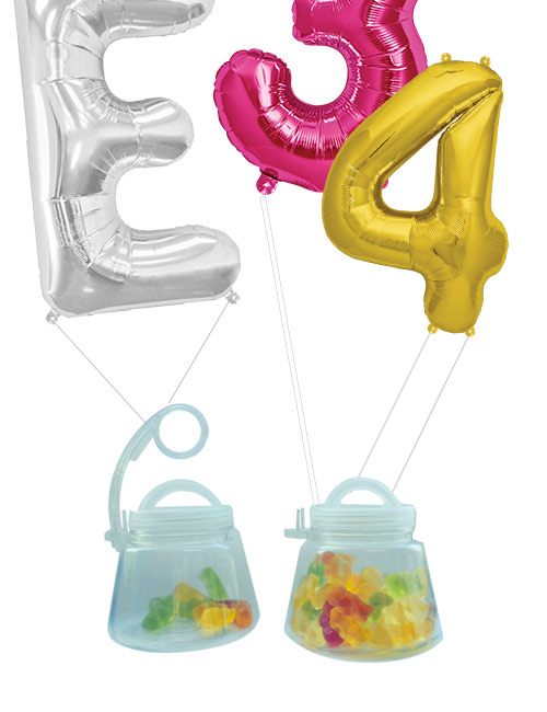 pesos para globos rellenables