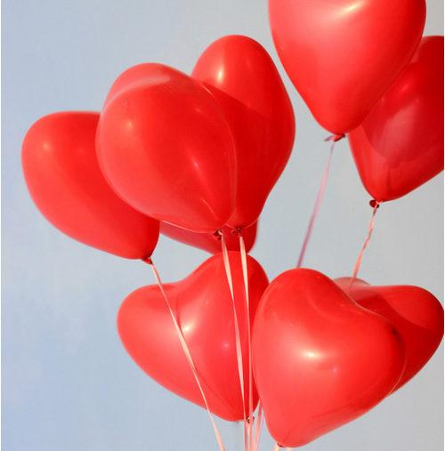 Globos Fiestas Corazon Forma Rojos 25 globos