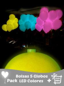 15 Globos Led Lisos Colores