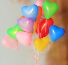 Globos Fiestas Corazon Mini de Colores