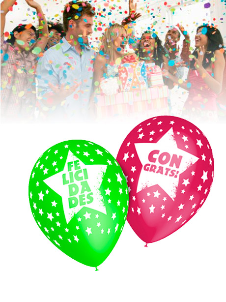 Globos Fiestas Felicidades 25 globos