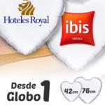 Globos de Helio Personalizados Corazón A Todo Color · De 1 a 5 Globos