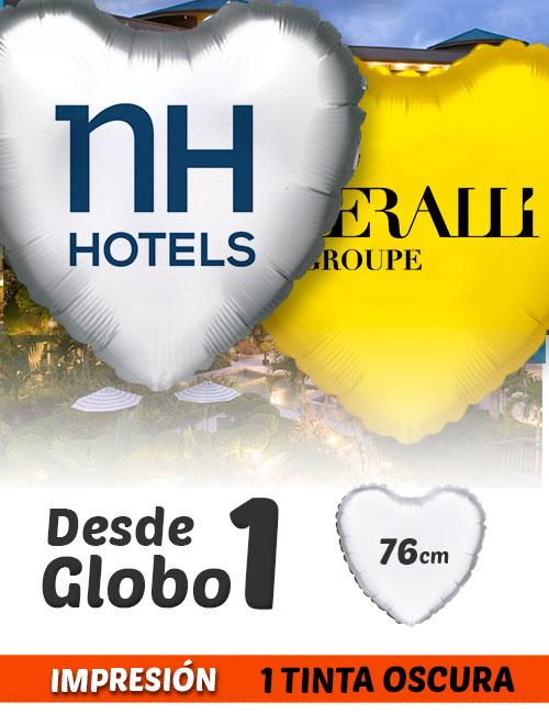 Globos de Helio Personalizados Corazón Ramos A 1 Tinta 76 cm