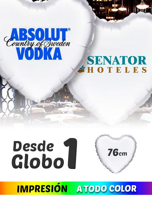 Globos de Helio Personalizados Corazón Ramos A Todo Color 76 cm