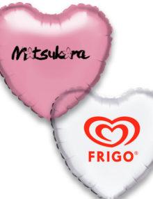Globos de Helio Personalizados Corazón A 1 Tinta · De 1 a 5 Globos