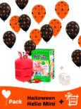 20 Globos Halloween 30 cm + Helio Mini · Pack Halloween Mini