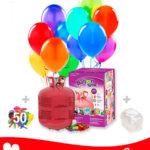 50 Globos Pastel + Helio Maxi · Pack Pastel Maxi
