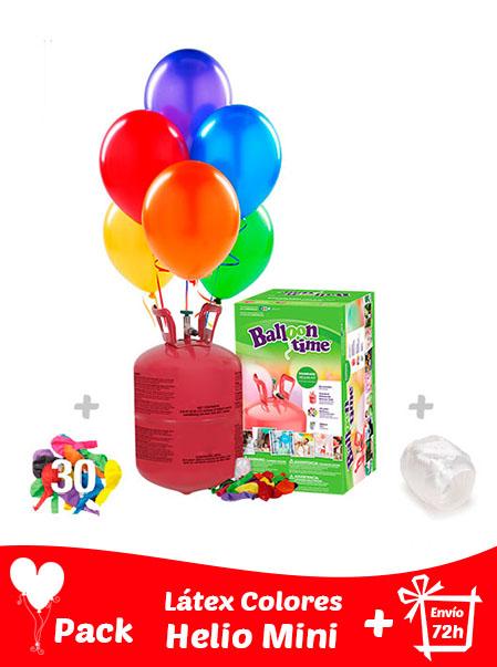 Pack 30 Globos Pastel + Helio Mini · Pack Pastel Mini