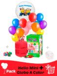 un globo personalizado a color helio mini