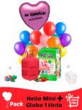 Pack Fiestas Cumpleaños : Globo Poliamida Personalizado 1 TINTA + Helio Mini