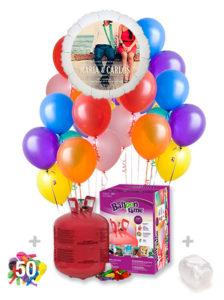 Pack Boda Color+: Globo Poliamida Personalizado A Color + Helio Maxi