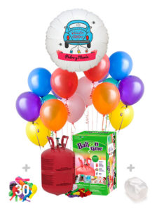 Pack Boda Color: Globo Poliamida Personalizado A Color + Helio Mini