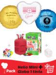Pack Comunion : Globo Poliamida Personalizado 1 TINTA + Helio Mini