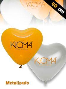 Globos Corazón Personalizados Latex 40 cm Metalizados