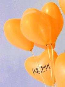 Globos Corazón Personalizados Latex 30 cm Dorado