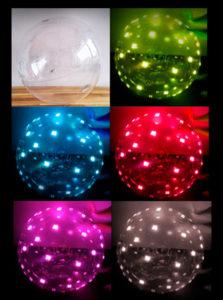 colores led globos
