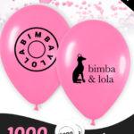 1000 Globos Personalizados Latex 28 cm 2 caras