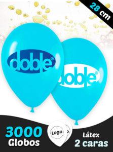 3000 Globos Personalizados Latex 28 cm 2 caras