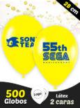 500 Globos Personalizados Latex 28 cm 2 caras
