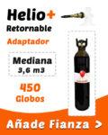 Helio Globos Retornable Mediana