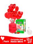 pack corazon poliamida sin personalizar helio mini