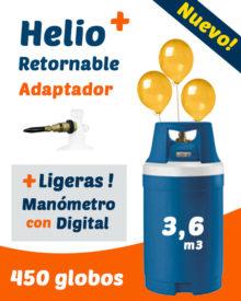 Helio Globos Retornable con Medidor Digital 3,6 m3