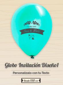 Invitaciones Globo Personalizado Boda 1