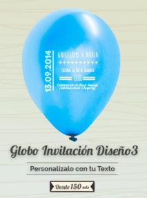 Invitaciones Globo Personalizado Boda 3