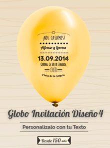 Invitaciones Globo Personalizado Boda 4
