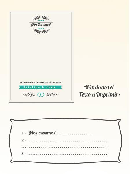 Invitaciones de Boda 1: Tarjeta y Globo Personalizado + Sobre | Globo 25 cm Metalizado