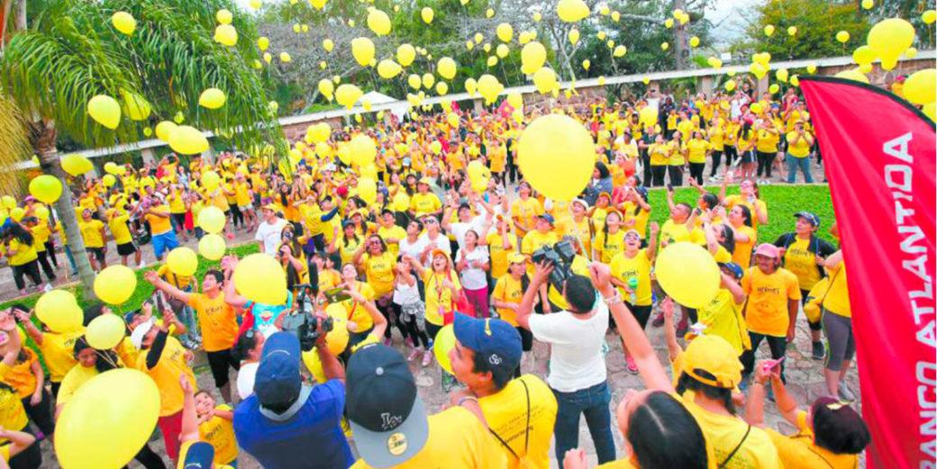 suelta de globos solidaria