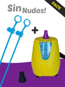 Pack Varillas de Colores Sin Nudos + Inflador Eléctrico