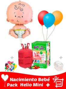 Pack Recién Nacido Globo Bebé + Helio Mini