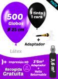 500 globos personalizados mas botella retornable